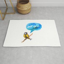 Just Do It - Motivational Bird Rug