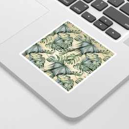 Palm Leaves Classic Linen Sticker