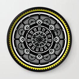Modern Mandala (Yellow) Wall Clock