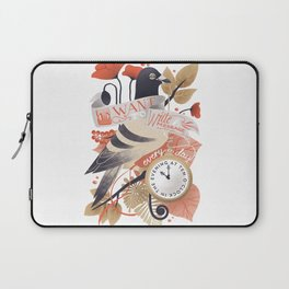 I Want The World To Stop Laptop Sleeve
