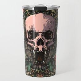 Skull in jungle Travel Mug