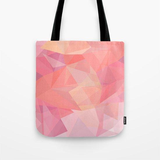autumn color polygon background Tote Bag