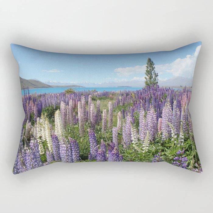 Lupine Field Rectangular Pillow