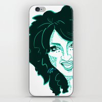 cookie iPhone & iPod Skins featuring Cookie by The Elfin Artist