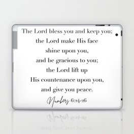 The Lord Bless You and Keep You Numbers 6 Laptop & iPad Skin