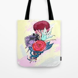 Chrysanth Wisteria & Lily - & Rose  Tote Bag