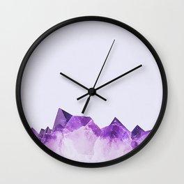 Amethyst Riff Wall Clock