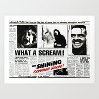the shining Art Prints featuring Shining by Maioriz Home