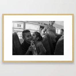 Kiddy Kisses Framed Art Print