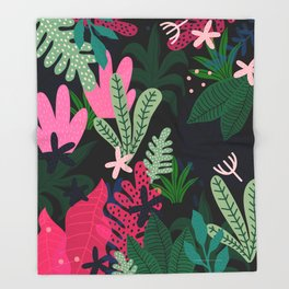 Into the jungle - deep night Throw Blanket