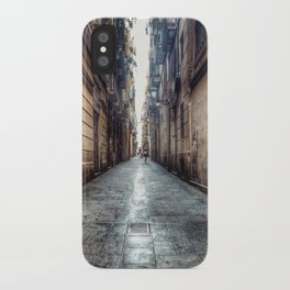 streets of barcelona iPhone Case