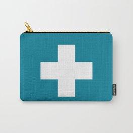 Swiss Cross Blue Carry-All Pouch