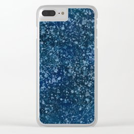 Teal Takeover, teal paint, paint splatter Clear iPhone Case