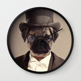 (Very) Distinguished Dog Wall Clock