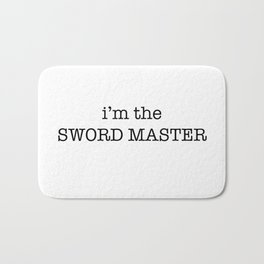 sword master Bath Mat