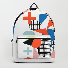 Kimbah - abstract art print shapes modern geometric retro cool colorful hipster gift idea dorm room  Backpack