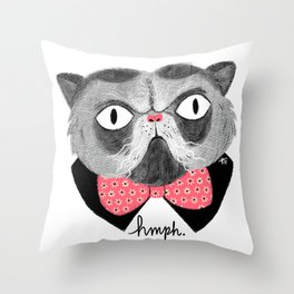 Hmph. Throw Pillow