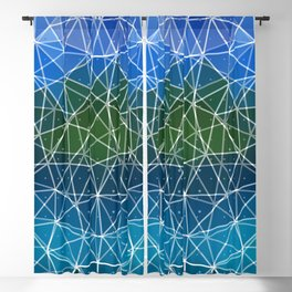 Colorful triangle background Blackout Curtain