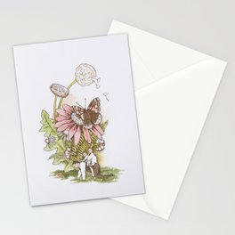 David playing piggyback with the boys Stationery Cards