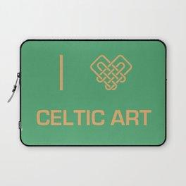 I heart Celtic Art Laptop Sleeve