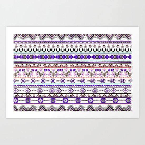 Purple tradition Art Print