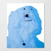 snowman Canvas Prints featuring Snowman  by AstridJN