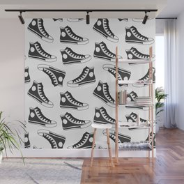 shoes, gumshoes seamless background Wall Mural