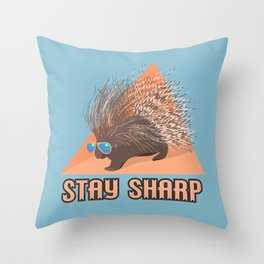 Stay Sharp Porcupine Throw Pillow