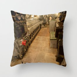 The USS Batfish SS-310 - In the Forward Engine Compartment Throw Pillow