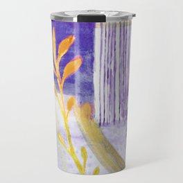 Blue Sky and Yellow Leaves Travel Mug