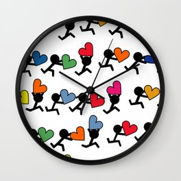 Love in color by Oliver Henggeler Wall Clock