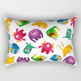 Colorful Cute Monsters Fun Cartoon Rectangular Pillow