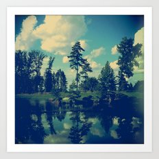 Yesterday Evening at the Lake Art Print