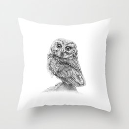 The Northern Saw-whet Owl Throw Pillow
