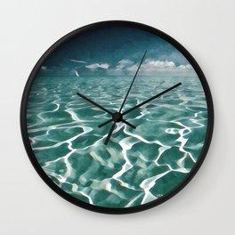 Sailing Ocean Blues Wall Clock