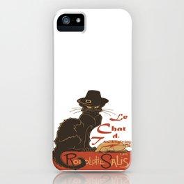 Le Chat De Thanksgiving iPhone Case
