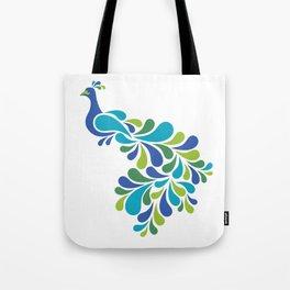 Retro Peacock Tote Bag