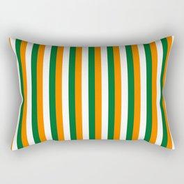 Team Colors 4... orange green white Rectangular Pillow