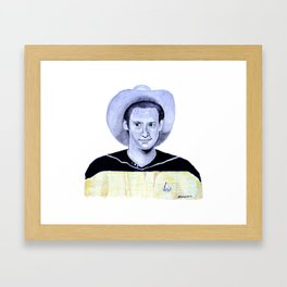 Brent Spiner as Lieutenant Commander Data Framed Art Print