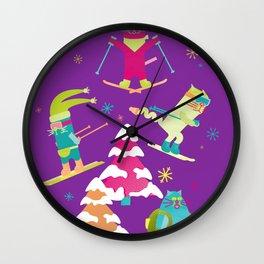 Rad Cats Shred Wall Clock