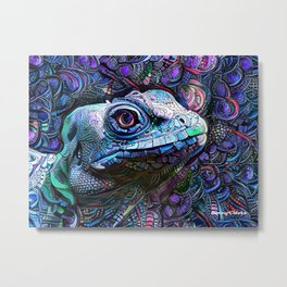 Iguana Come See You Metal Print