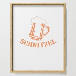 I Don't Give a Schnitzel Funny Beer Serving Tray