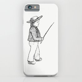 Little boy from Sunshine And Sea A Yachting Visit To The Channel Islands And Coast Of Brittany iPhone Case