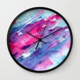 Melting colors || watercolors Wall Clock