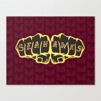 seahawks Canvas Prints featuring Seaknucks - Seattle Seahawks fan art by Scott Erickson