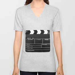 Film Movie Video production Clapper board Unisex V-Neck