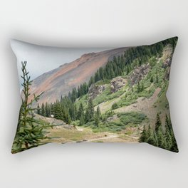 Road to the Longfellow Mine, elevation 11,080 feet Rectangular Pillow