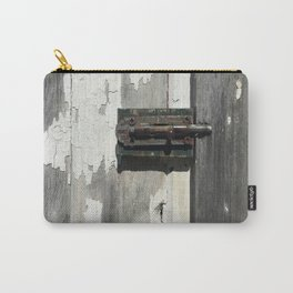 Vintage Latch on Weathered Wood Carry-All Pouch