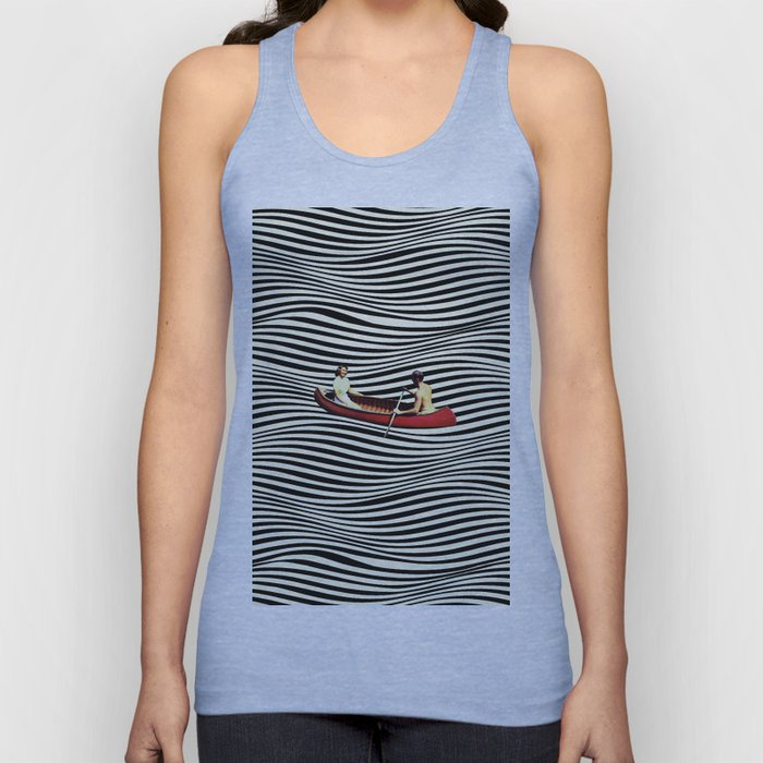 Illusionary Boat Ride Unisex Tank Top