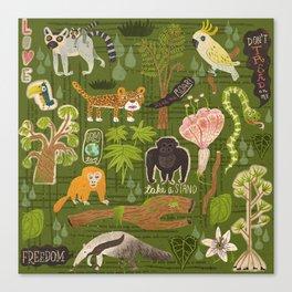 Rainforest citizens Canvas Print